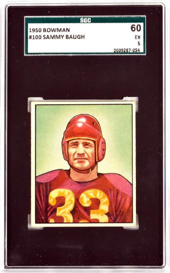 1950 Bowman Sammy Baugh Sgc 60 Ex 5