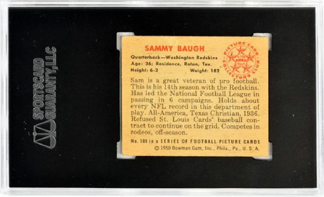 1950 Bowman Sammy Baugh Sgc 60 Ex 5 - 2