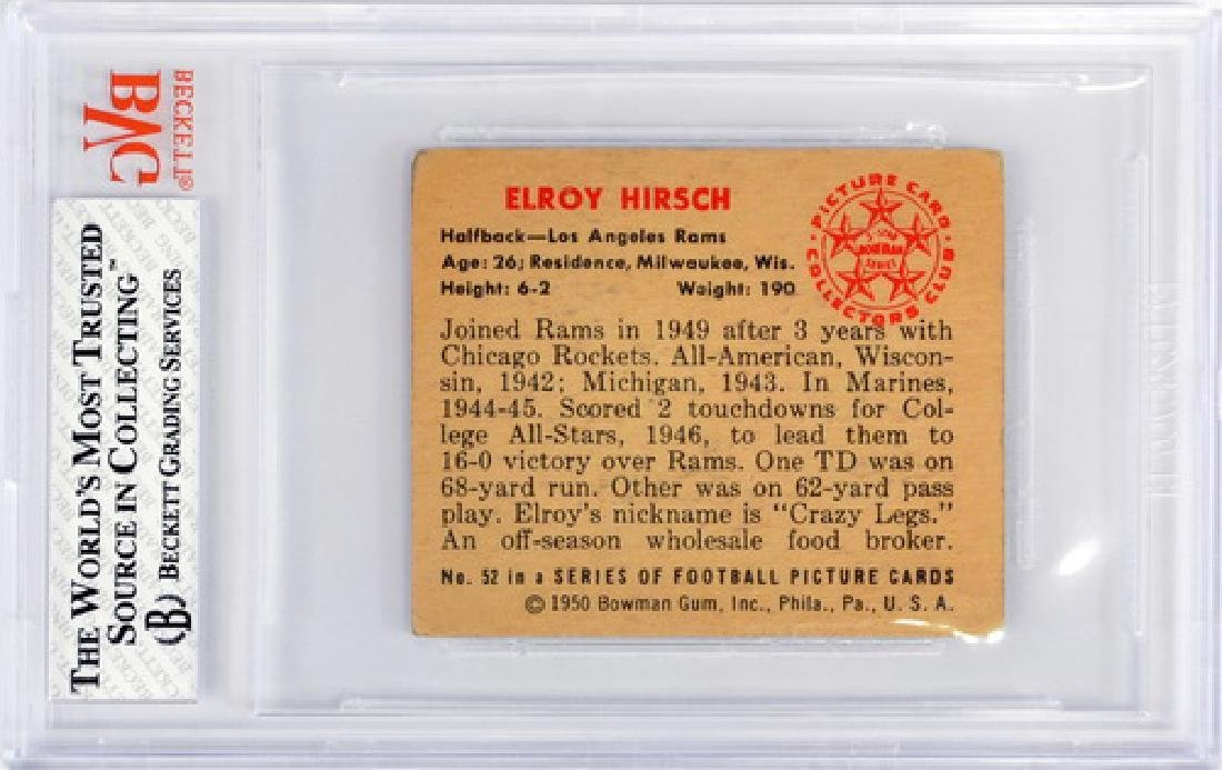 1950 Bowman Elroy Hirsch Bvg 3.5 - 2