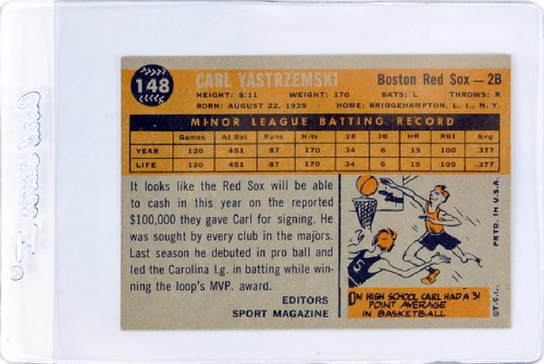 1960 Topps Carl Yastrzemski Rookie Ungraded - 2