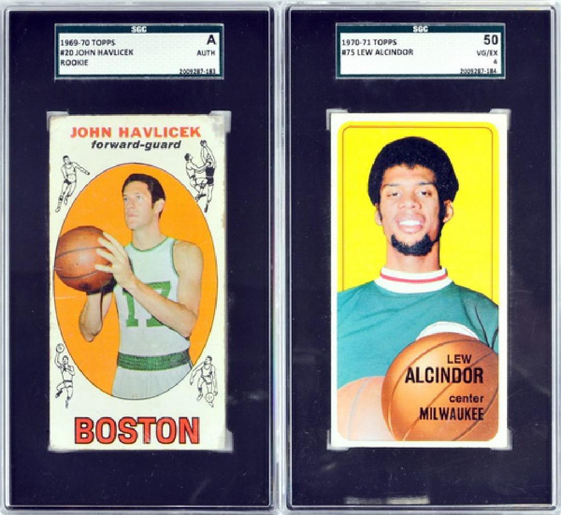 Two Vintage Basketball Cards Alcindor/havlicek