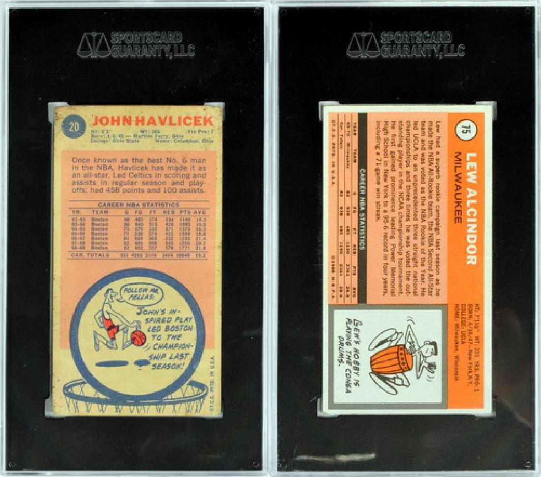 Two Vintage Basketball Cards Alcindor/havlicek - 2