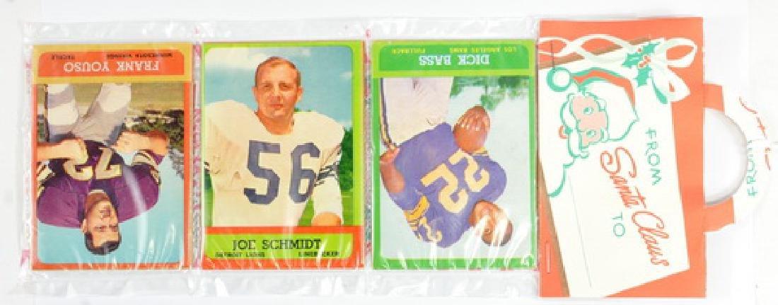 Two 1963 Topps Football Christmas Rack Packs