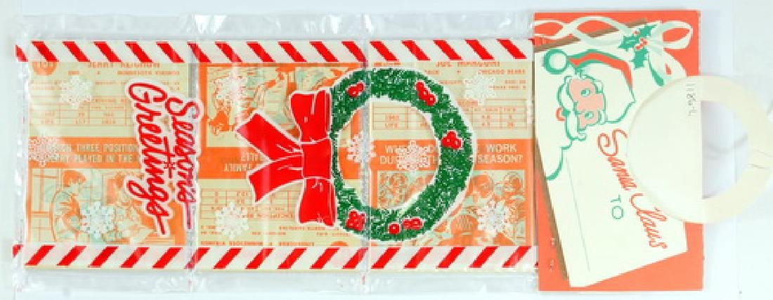 Two 1963 Topps Football Christmas Rack Packs - 2