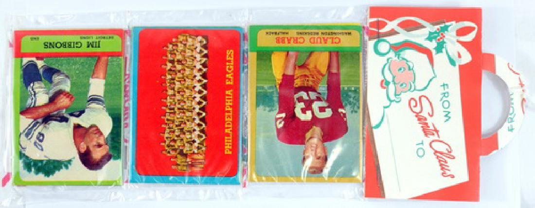 Two 1963 Topps Football Christmas Rack Packs - 3
