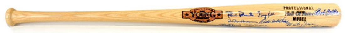 Multi Signed Hall Of Fame Bat Jsa Loa