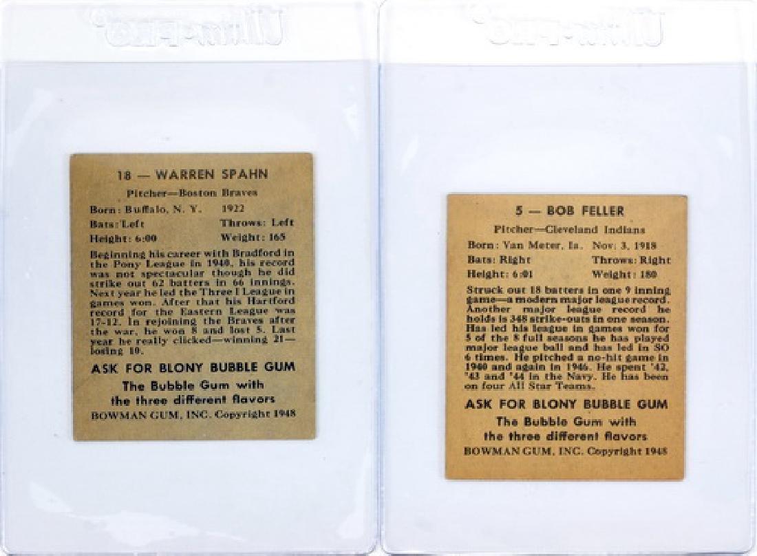 1948 Bowman Warren Spahn, Bob Feller Rookies - 2