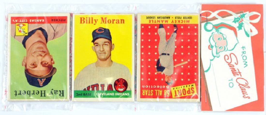 1958 Topps Christmas Rack Pack Mantle On Top