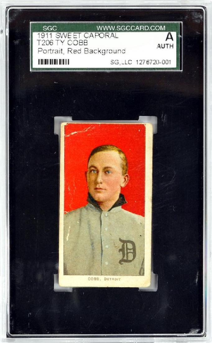 1911 T206 Ty Cobb Red Background Sgc A