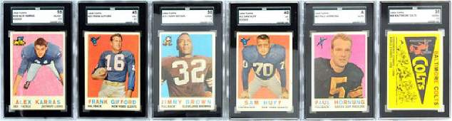Complete Set Of 1959 Topps Football 11 Graded