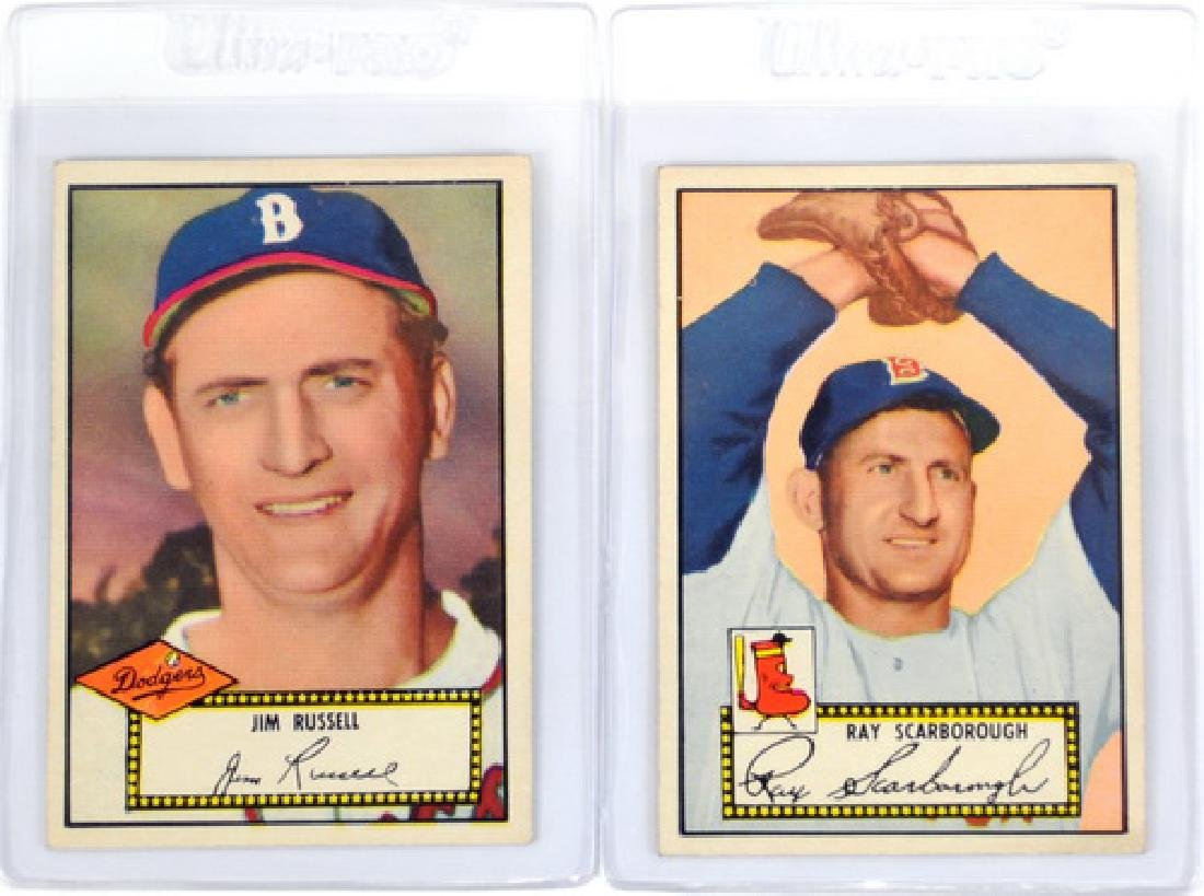 25 1952 Topps Baseball Cards In Nice Condition