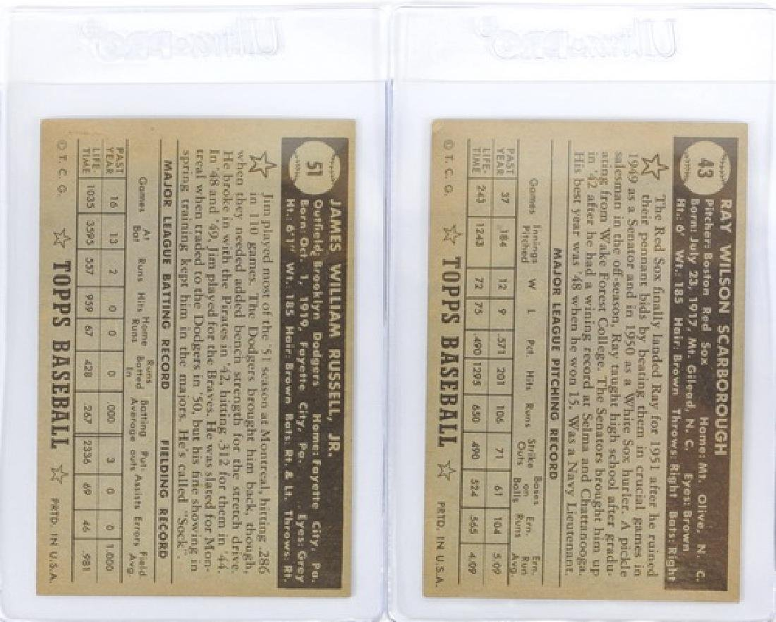 25 1952 Topps Baseball Cards In Nice Condition - 2