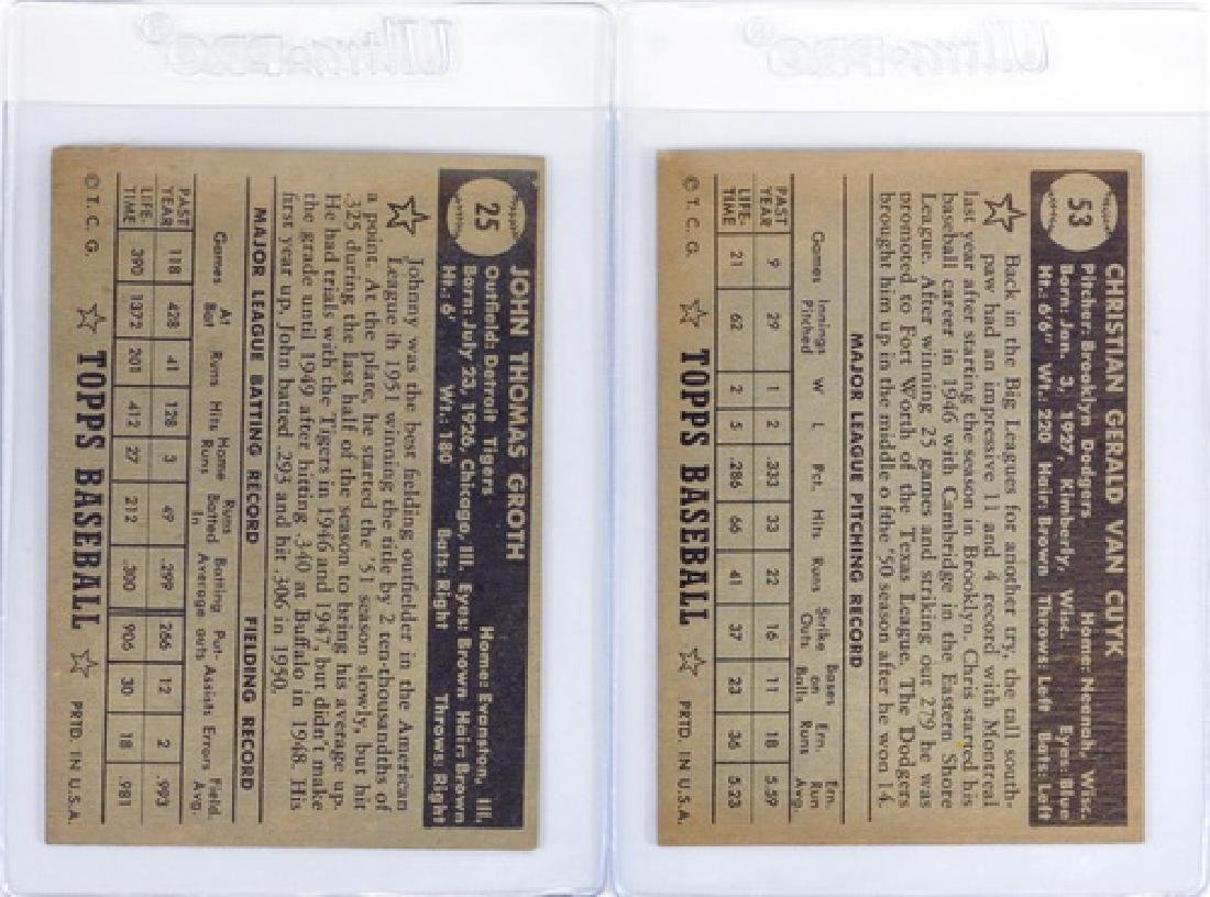 25 1952 Topps Baseball Cards In Nice Condition - 6