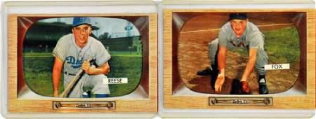 7 1955 Bowman Baseball Hofstars