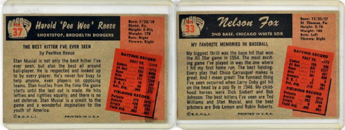 7 1955 Bowman Baseball Hof/stars - 2