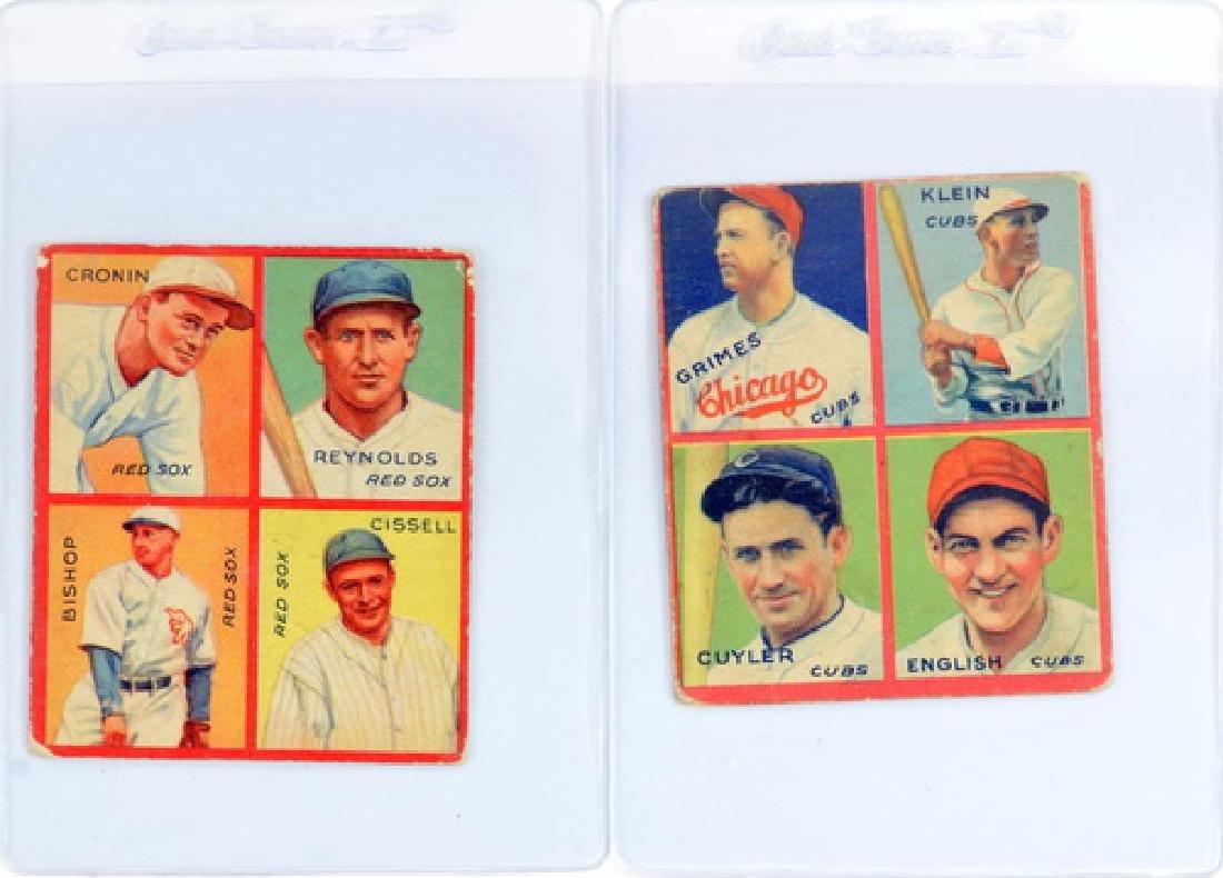 9 1935 Goudey 4 In 1 Including Hof