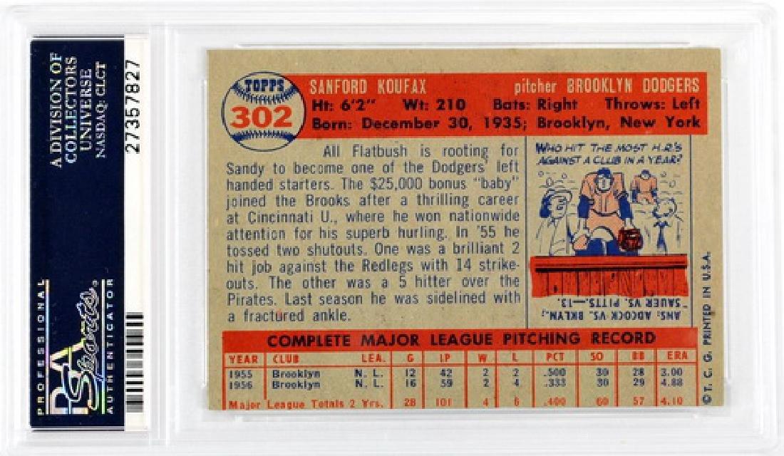 1957 Topps Sandy Koufax Psa 6 (mc) - 2