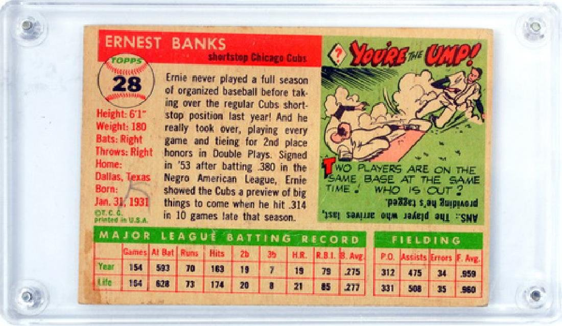 1955 Topps Ernie Banks Ungraded - 2