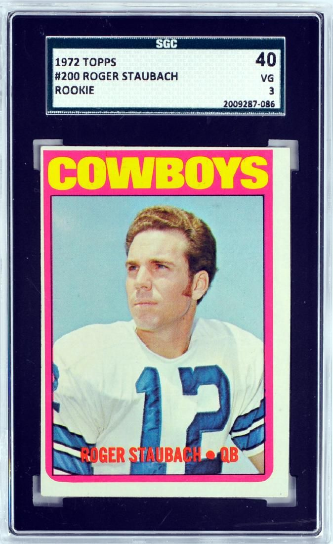 1972 Topps Roger Staubach Rookie Card Graded