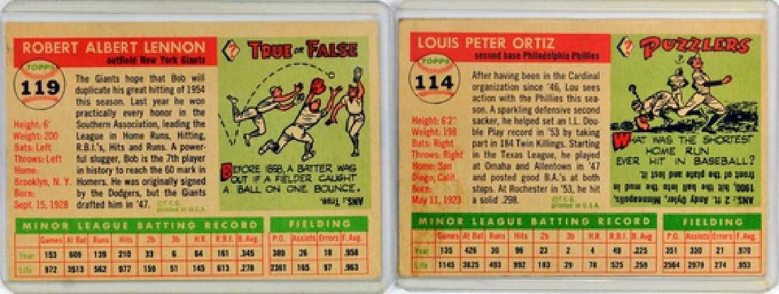 50 1955 Topps Baseball Cards - 6