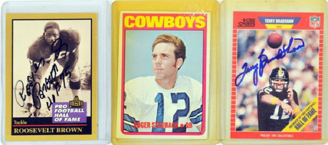 11 Vintage Football Cards Including Signed Cards - 3