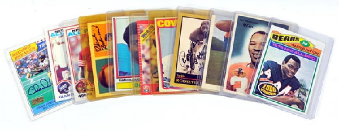 11 Vintage Football Cards Including Signed Cards - 5