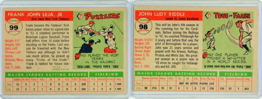 50 1955 Topps Baseball Cards - 4