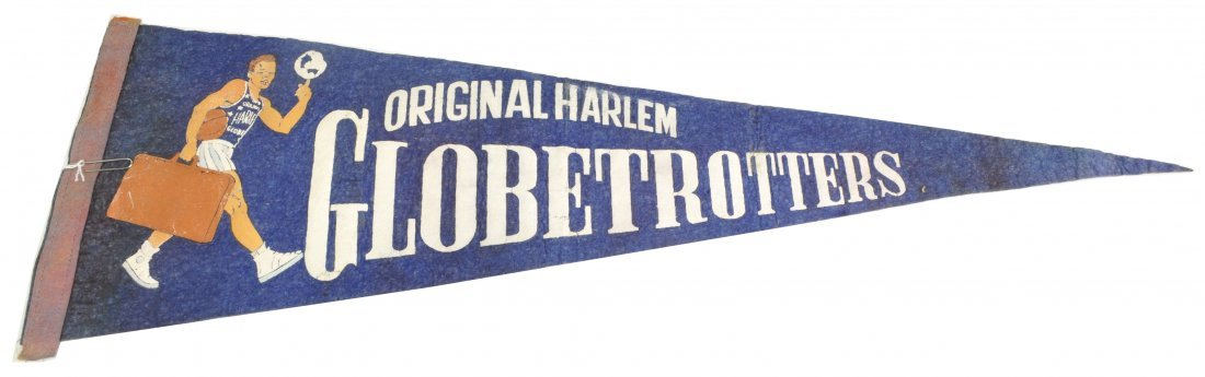 1950's Harlem Globetrotters Felt Pennant
