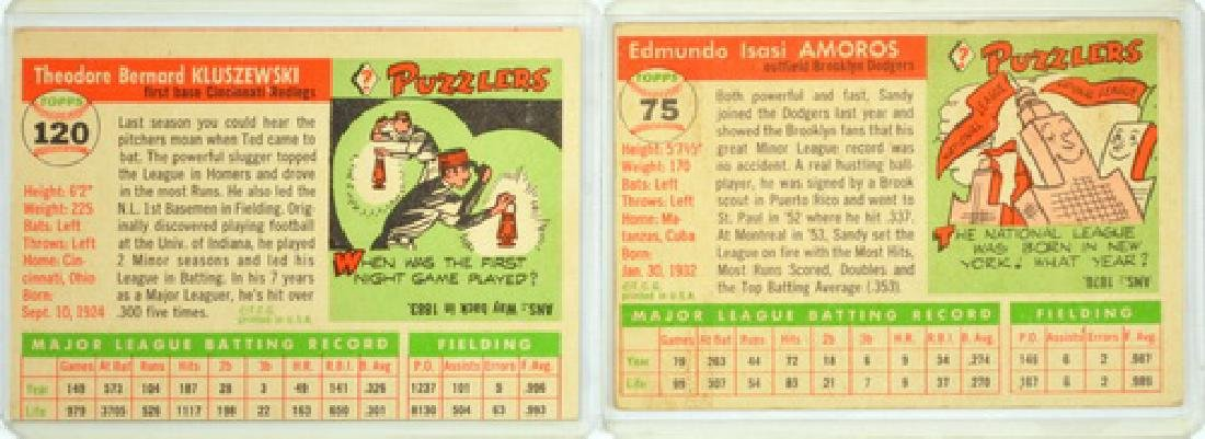 7 1955 Topps Baseball Cards Rookies/stars - 2