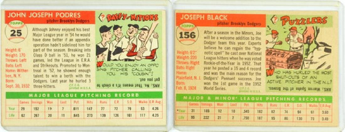7 1955 Topps Baseball Cards Rookies/stars - 4