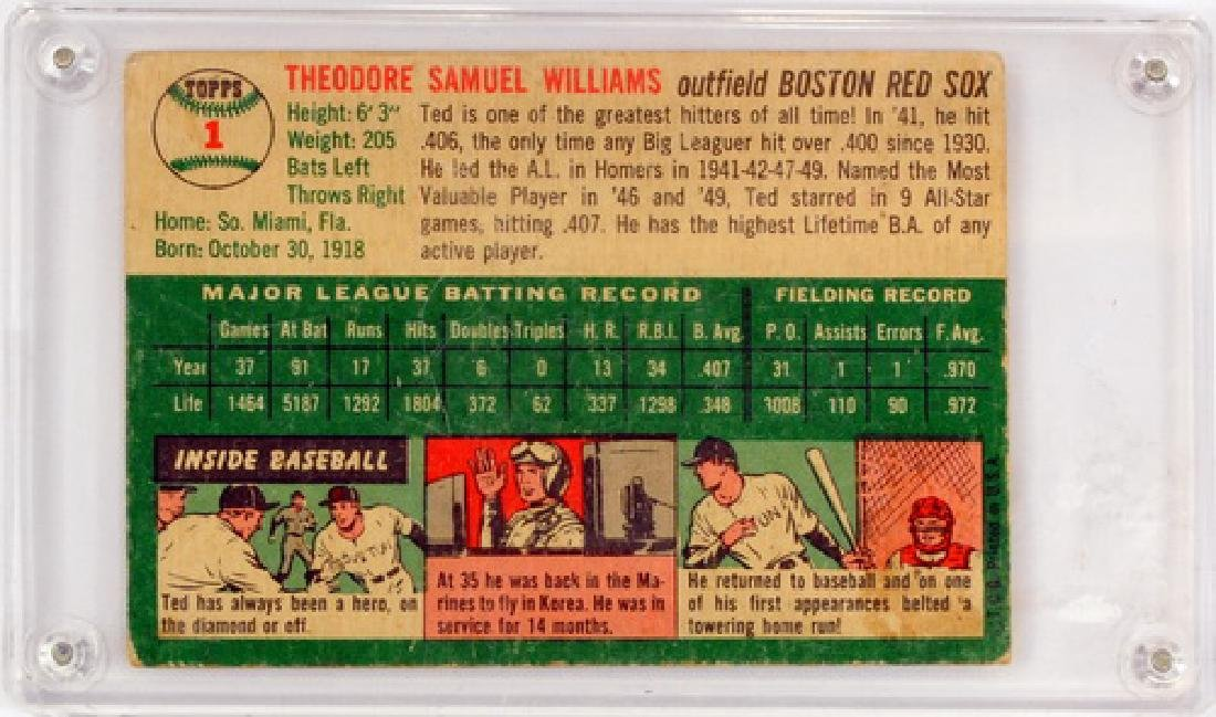 1954 Topps Ted Williams Ungraded - 2