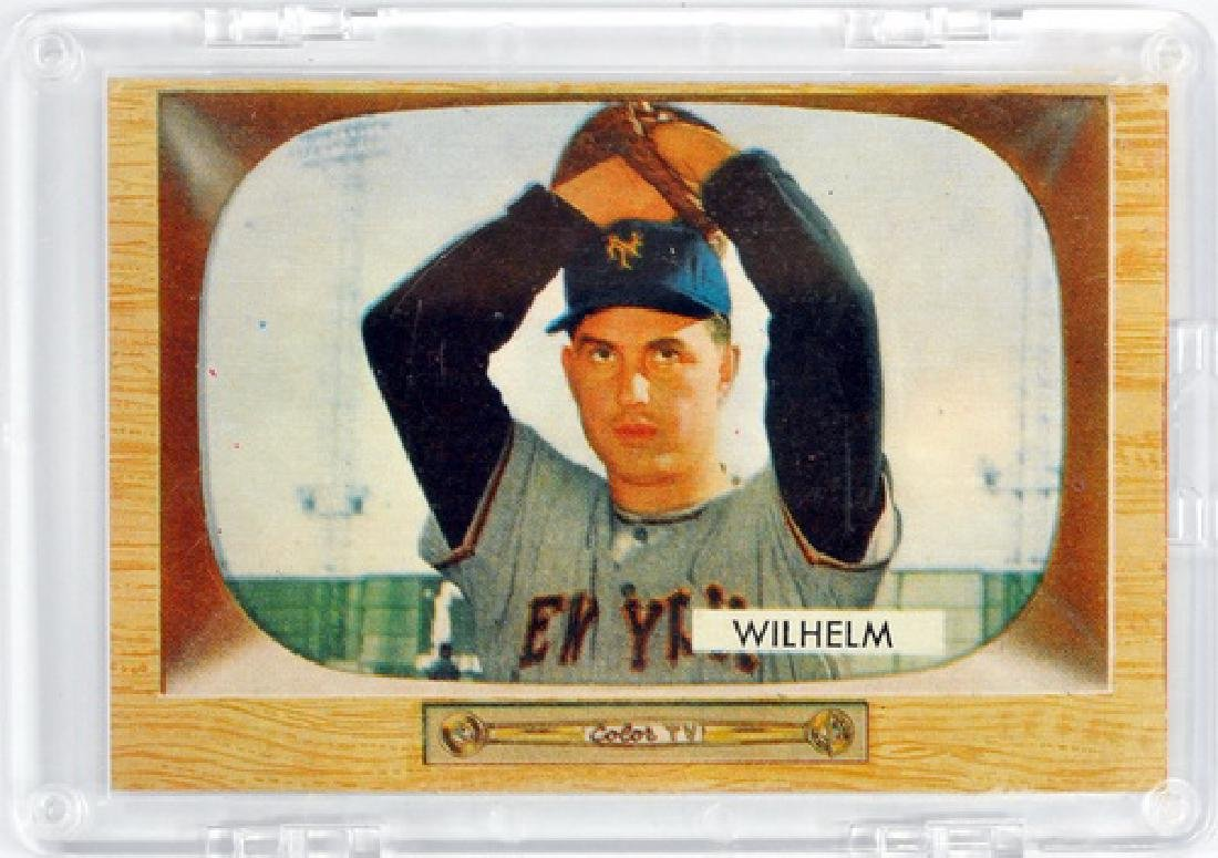Two 1955 Bowman Cards Hoyt Wilhelm And Don Larsen