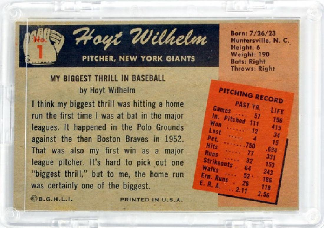 Two 1955 Bowman Cards Hoyt Wilhelm And Don Larsen - 2