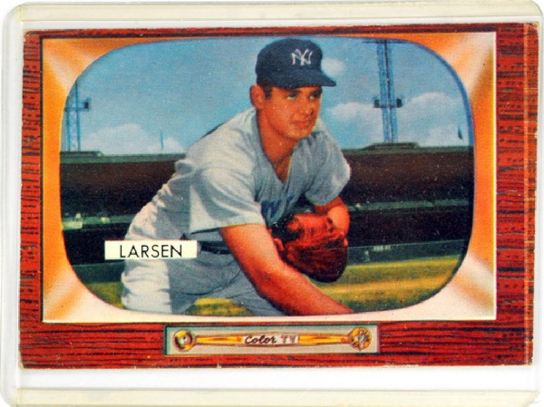 Two 1955 Bowman Cards Hoyt Wilhelm And Don Larsen - 3