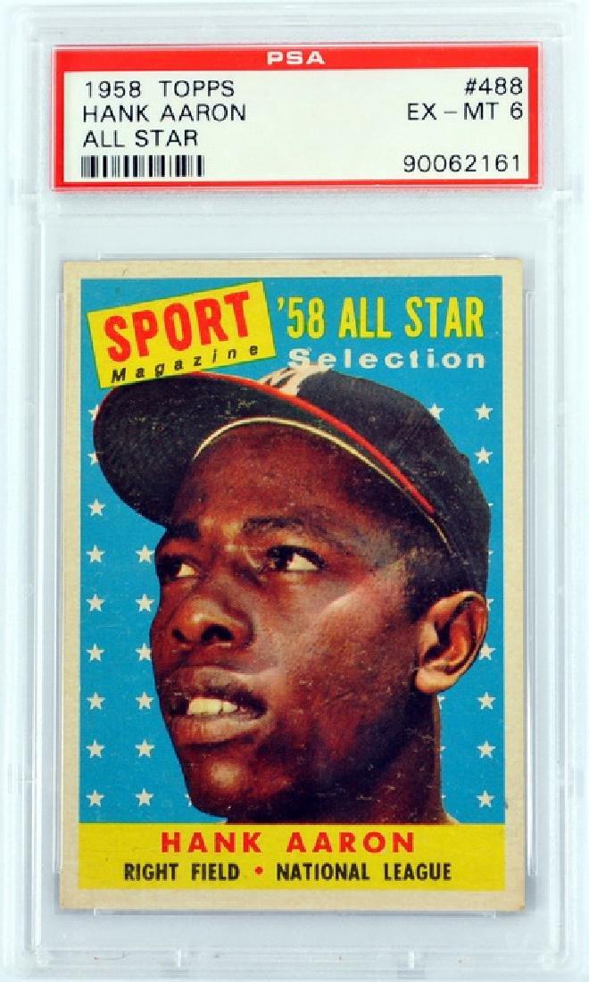 1958 Topps Hank Aaron All-star Psa 6