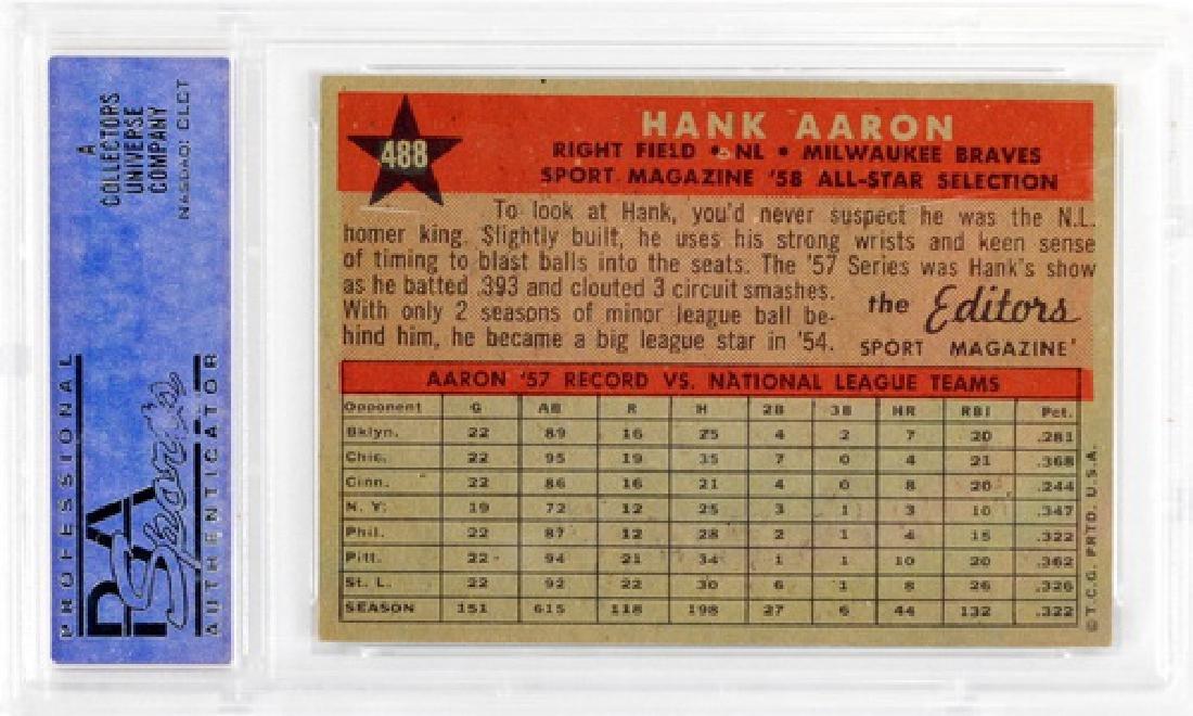 1958 Topps Hank Aaron All-star Psa 6 - 2