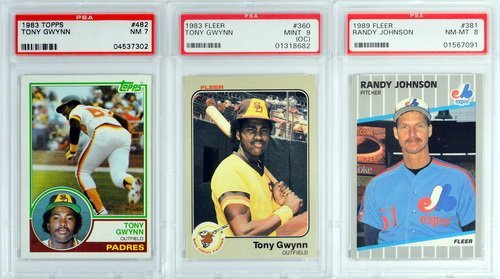 7 Graded Baseball Rookies And Stars 1980's