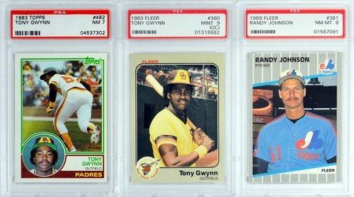 7 Graded Baseball Rookies And Stars 1980's