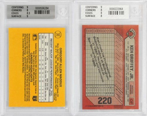 7 Graded Baseball Rookies And Stars 1980's - 4