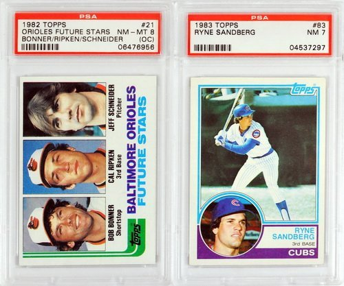 7 Graded Baseball Rookies And Stars 1980's - 5