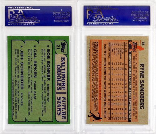 7 Graded Baseball Rookies And Stars 1980's - 6