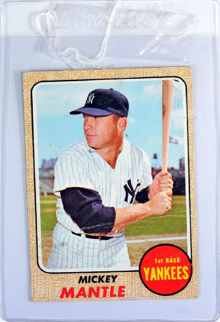 1968 Topps Mickey Mantle Ungraded