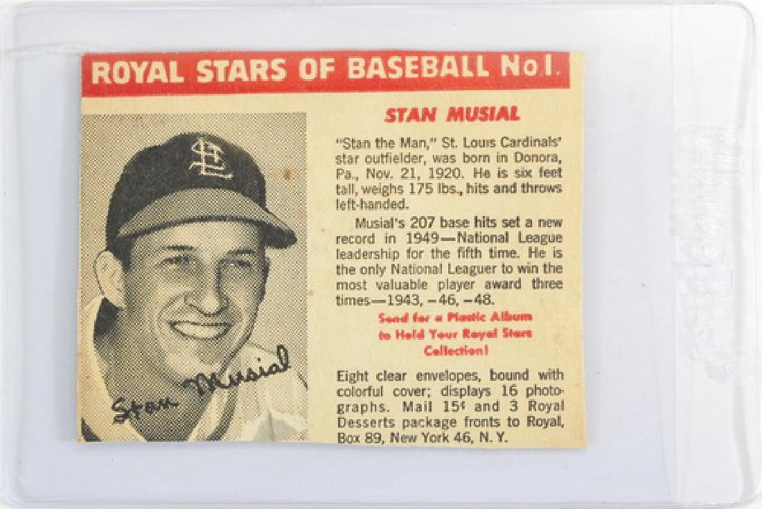 Royal Dessert Stan Musial Card