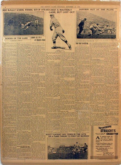 Three Matted Newpapers 1916 Baseball Era - 2