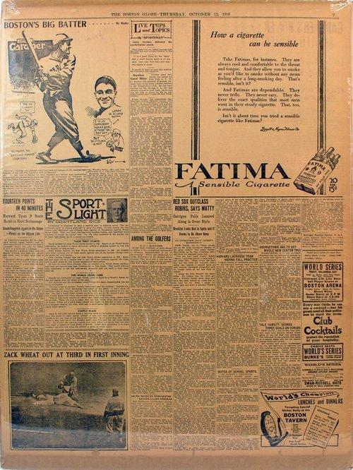 Three Matted Newpapers 1916 Baseball Era - 3