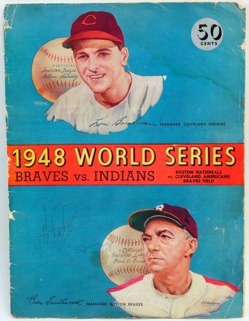 1948 World Series Program Signed Dimaggio/cronin