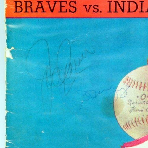 1948 World Series Program Signed Dimaggio/cronin - 2