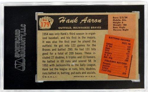 1955 Bowman Hank Aaron Sgc 80 Ex/nm 6 - 2