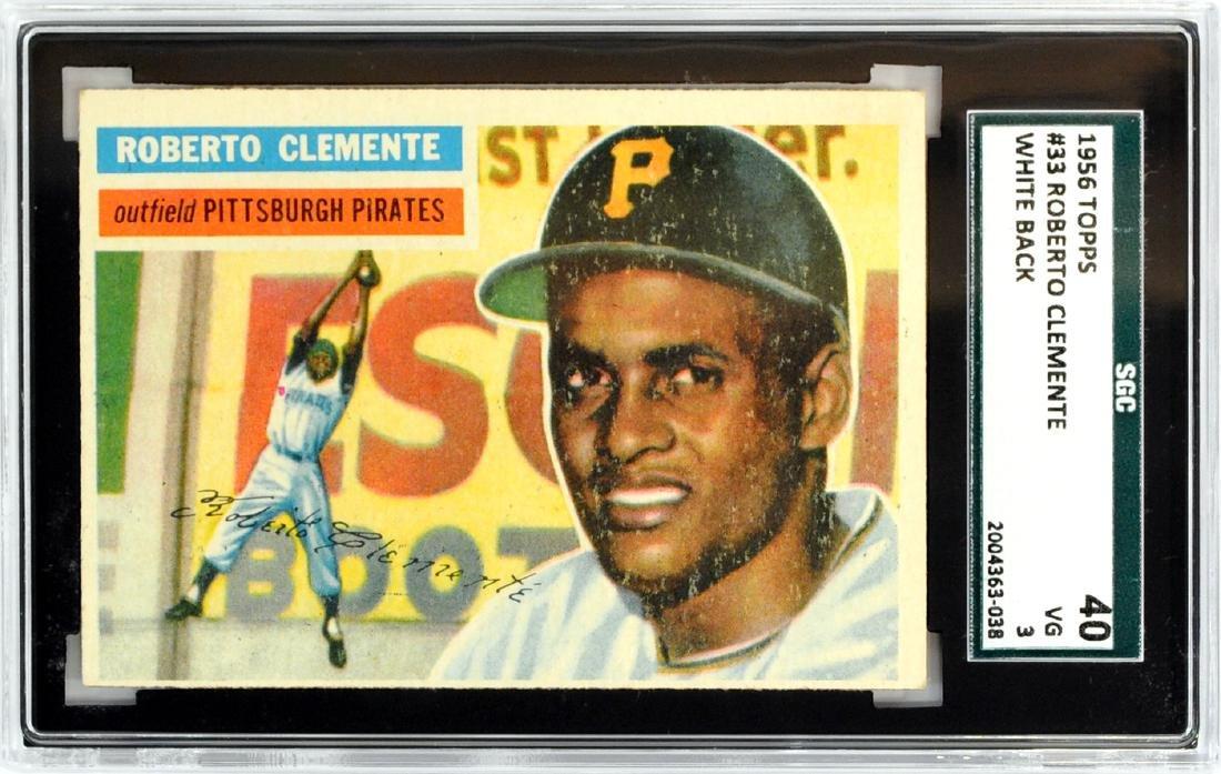 1956 Topps Roberto Clemente Sgc 40 Vg 3