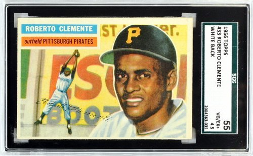1956 Topps Roberto Clemente Sgc 55 Vg/ex 4.5